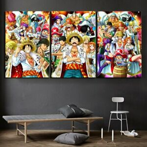 Anime Pirate Abstract Canvas Print Painting Home Decoration Art 3 Piece No Frame