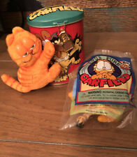 GARFIELD Toys Lot Magnetic Plush, Tin Bank And Suction Cup Window Cling