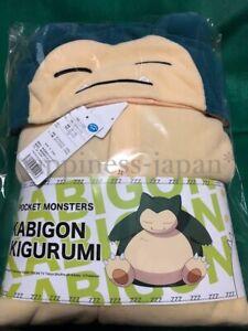 Pokemon Snorlax Kabigon Fleece Costume SAZAC Official Adult Unisex Cosplay Japan