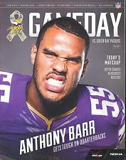 Minnesota Vikings Green Bay Packers 11/23/14 NFL Game Program...Anthony Barr
