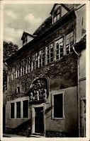 Eisleben DDR 1961 Straßenpartie Luthers Geburtshaus Landpoststempel Rottelsdorf