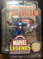 "CAPTAIN AMERICA Marvel Legends 6""  Series 1 Action Figure Sealed Toy Biz 2002"