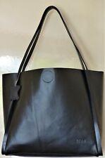 Ladies Designer Tote/ Shoulder Bag Genuine Cow Leather  Black Large