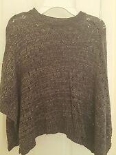 Girls DKNY Silver Poncho sweater size S