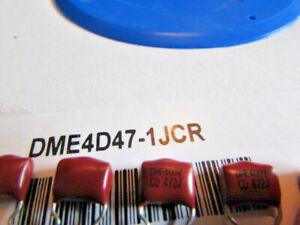 0.0047uF 4700pF 4.7nF 400V 5% CDE DME4D47-1JCR Polyester Radial Film Capacitors