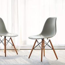 4er Grau Stuhl Wohnzimmerstuhl Esszimmerstuhl Kunststoff Bürostuhl gartenstüle