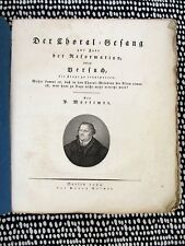 1821 SACRED MUSIC of the REFORMATION Scarce Musicology w/ 163 CHURCH CHORALES