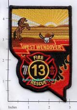 Nevada - West Wendover Fire Rescue 13 NV Fire Dept Patch