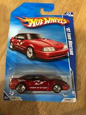 S5/3) 2010 Hot Wheels 92 Ford Mustang Red Nitro  HWs Performance Car New