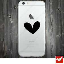Sticker Autocollant Apple Iphone 4 5 6  Lot de 2X - COEUR AMOUR HEART IPH40