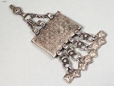 antike orient nomaden schmuck Silber Anhänger afghanistan Pendant necklace 17/9