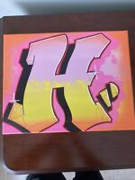 "Graffiti ""H"" 11x14 spray paint and marker Art on Canvas signed original"