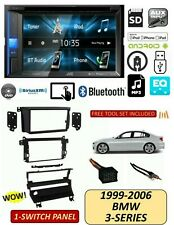 BMW 99-06 3-Series TOUCHSCREEN DVD BLUETOOTH Stereo Kit, 1 Switch Panel E46