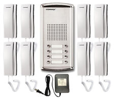 COMMAX INTERCOM: 1x 8-Buttons Lobby Panel, 8x Audio Phones, and 1x power supply