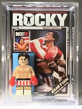 Sly Stallone Rocky Balboa Mini Action Figure w Display Case Mini-figure 381