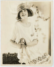 Vintage 1923 Published Women's Fashion Plate Photograph Bandana Drape Millinery