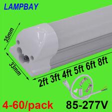 LED Tube Light 2ft 3ft 4ft 5ft 6ft 8ft 48WT8 Integrated Bulb Linear Lamp Fixture