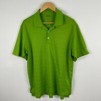 Adidas Golf Polo Shirt Mens Large Green Short Sleeve Collared