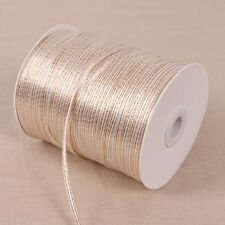 "20yards 1/8"" solid satin ribbon w/gold edge wedding decoration wrapping craft"