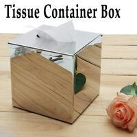 130mm Tissuebox aus Edelstahl Kosmetiktücherbox Taschentuchspender Quadrat !