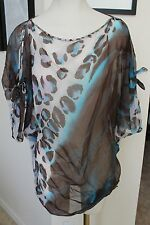 NWT AUTH DIANE VON FURSTENBERG DVF SILK BATHING SUIT COVERUP NEW  XSMALL XS TAGS