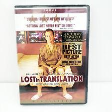 Lost in Translation (Dvd, 2003) New Sealed. Bill Murray, Scarlett Johansson