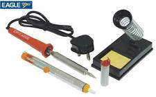 Soldering Iron Kit Mains Powered 80W Practical Stand, Solder Pump & 10g Of Wire