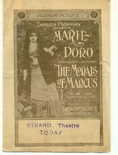 MARIE DORO The Morals of Marcus Orig 1915 Herald Edwin S. Porter Director Zukor