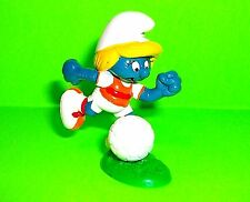 Vtg Peyo Schleich RARE SMURFETTE TOY Action Figure 1980 Soccer Ball Player Base