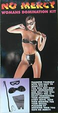 No Mercy Woman's Ladies Latex & Leather Look 4 Piece Domination Kit BNIP