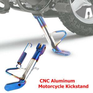 CNC Aluminum Motorcycle Scooter Kickstand Side Stand Leg Fit for Honda Kawasaki