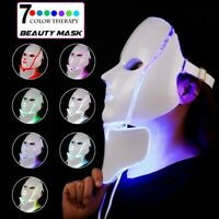 3/7 Colour LED Photon Face Mask Skin Rejuvenation Wrinkle Acne Beauty Facial