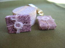 Dollhouse Miniature  4 Gift  Boxes  some with cute Ribbons  1:12