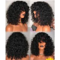 Short Wave 13X6 Lace Front Wigs Brazilian Virgin Hair Wavy Full Lace Wigs Bangs