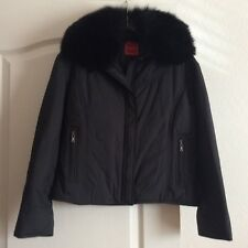NEW! COLE HAAN JACKET W/ DETATCHABLE FOX FUR COLLAR ! WOMENS S/4-6 MUST SEE!!!