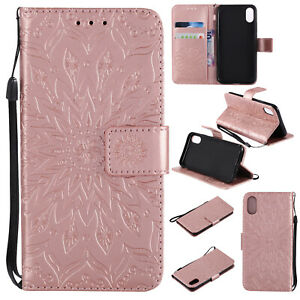 Hot Embossing Sun Flower Flip Leather Card Wallet Phone Case Cover For Huawei