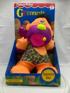 Fisher Price Puffalump Grrrrunts Caveman Orange Purple 1992 Vintage Grunts
