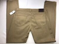 NWT AG ADRIANO GOLDSCHMIED THE GRADUATE TAILORED LEG PANTS 30 X 34 BROWN