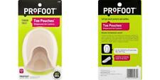 PROFOOT Toe Pouch Cushions, Women's 6-10, (1 Pair), Protects Toes, Cushions...