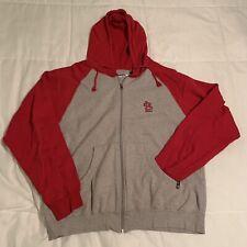 St Louis Cardinals Antigua Hooded Sweatshirt Size Medium Gray Red Hoodie STL