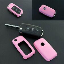 Für VW SEAT SKODA Klapp Schlüssel Cover Key Cover Schlüssel Fernbedienung Pink
