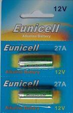 2 Piles Alcaline 12V A27 27A Super Power Battery Alkaline Mn27 Gp27a L828 El812