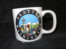 NEW Ceramic SEATTLE Coffee MUG Cocoa Tea Vintage Cup Space Needle Skyline