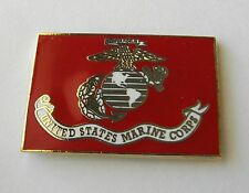 US MARINE CORPS USMC MARINES RECTANGLE LAPEL PIN BADGE 1 INCH
