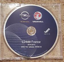 2014-15 VAUXHALL OPEL CD500 MY09/10 Sat Nav Disc For INSIGNIA, ASTRA,  CD FRANCE