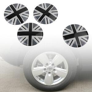 Wheel Center Hub Cap Emblem Badge decal Black Union Jack Flag For Mini Cooper U3