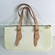 Auth Louis Vuitton Rosewood Perle White Monogram Vernis Leather Shoulder Bag
