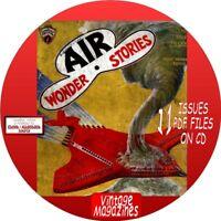 AIR WONDER STORIES - 11 VINTAGE MAGAZINES - PDF FILES ON CD - SCIENCE FICTION
