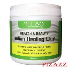 INDIAN HEALING CLAY Deep Pore Cleansing Beauty Facial Mask - 1 lb