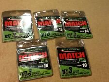Maver Match This Fishing Hooks Barbless Spade End Mt3 Verious Sizes Size 14